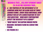 design a test fill out student sheet 20 1a as we discuss this