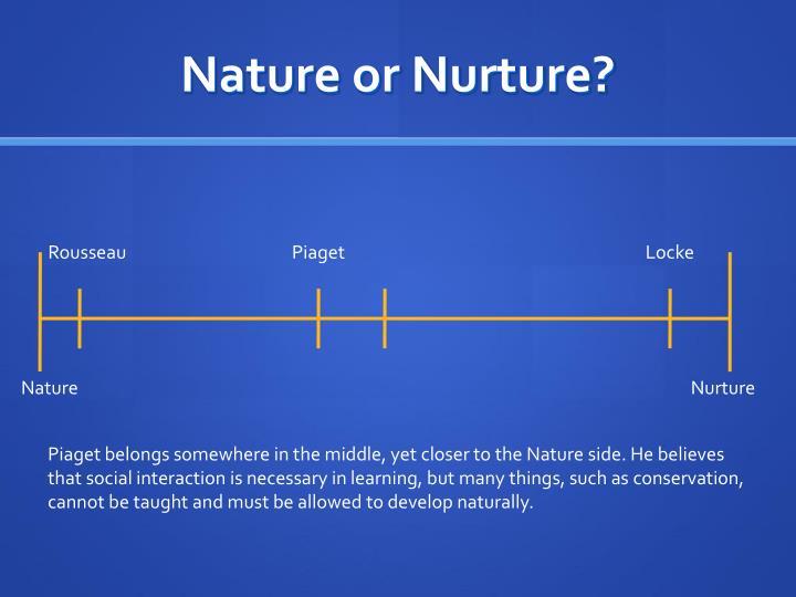 piaget nature nurture
