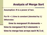 analysis of merge sort