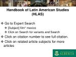 databases handbook of latin american studies hlas