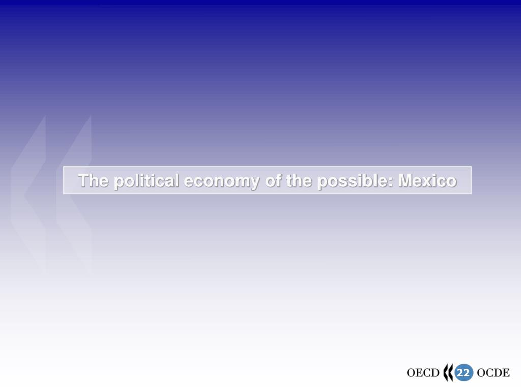 The political economy of the possible: Mexico