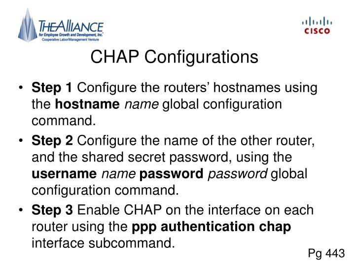 CHAP Configurations