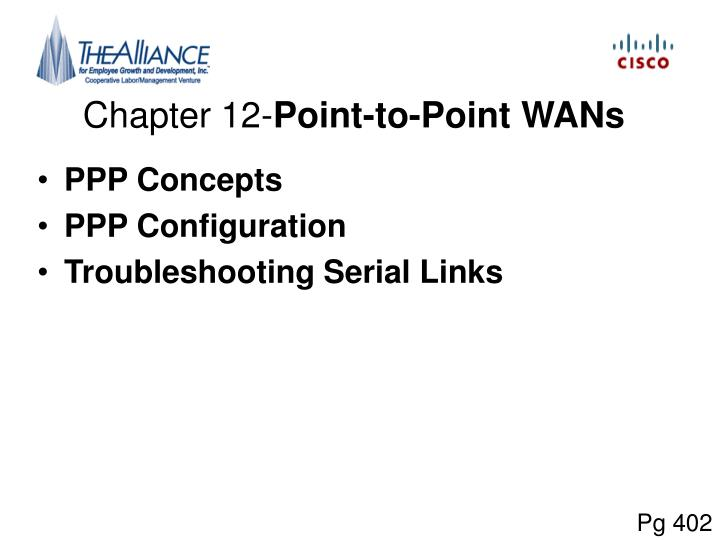 Chapter 12 point to point wans