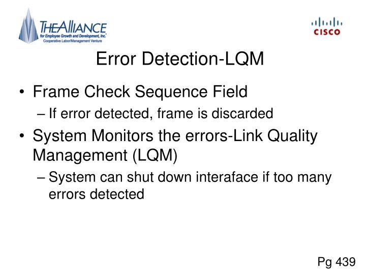 Error Detection-LQM