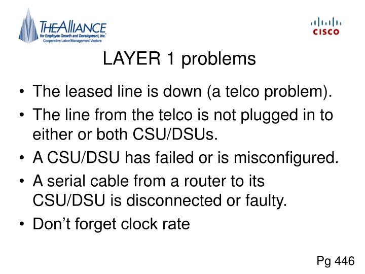 LAYER 1 problems