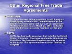 other regional free trade agreements