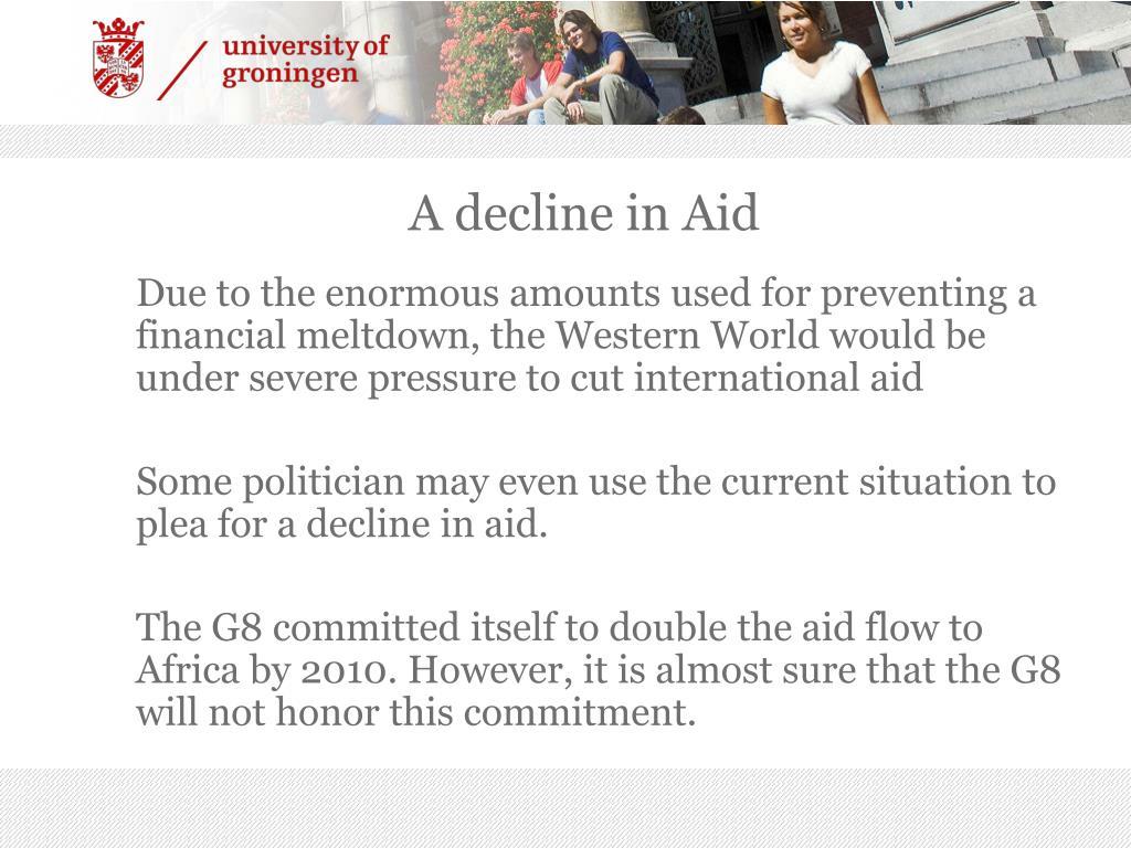 A decline in Aid