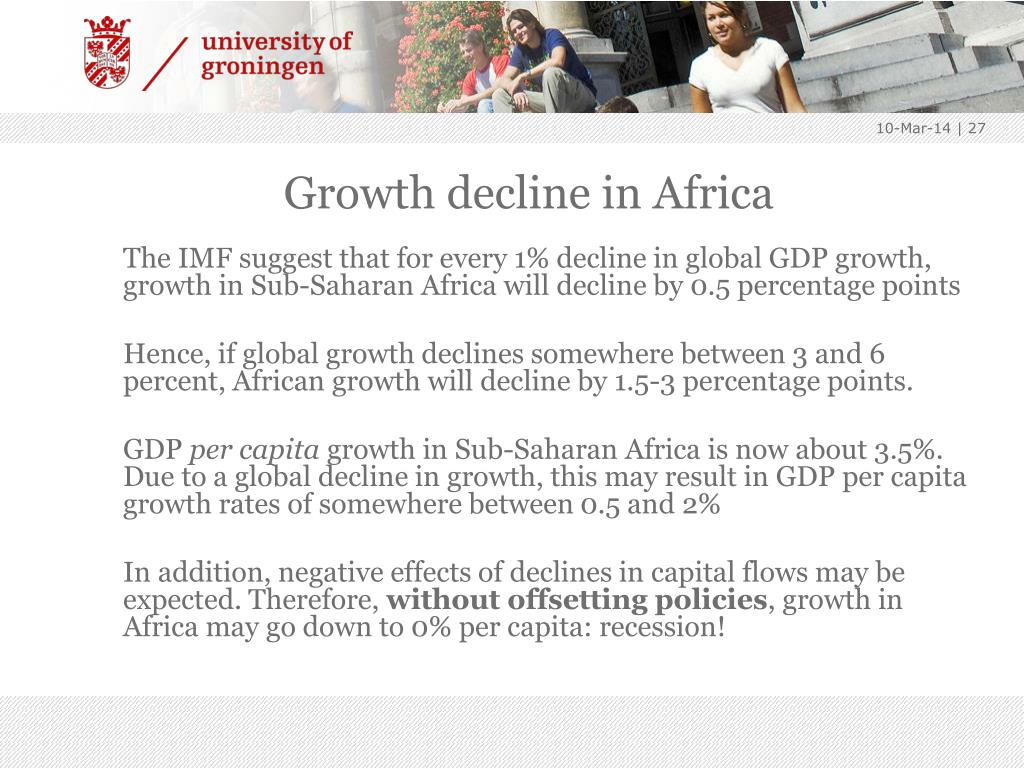 Growth decline in Africa