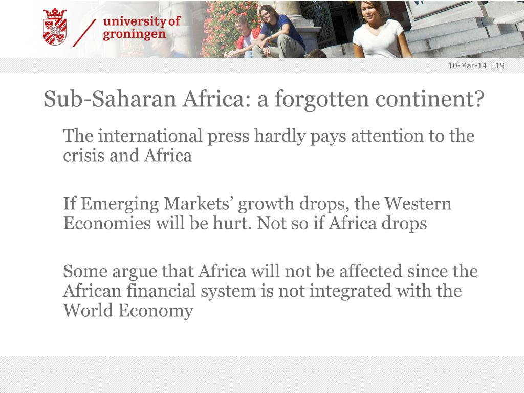 Sub-Saharan Africa: a forgotten continent?