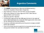 argentina comments