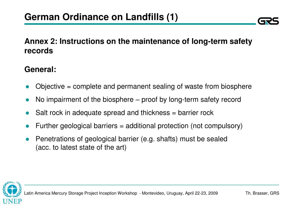 German Ordinance on Landfills (1)