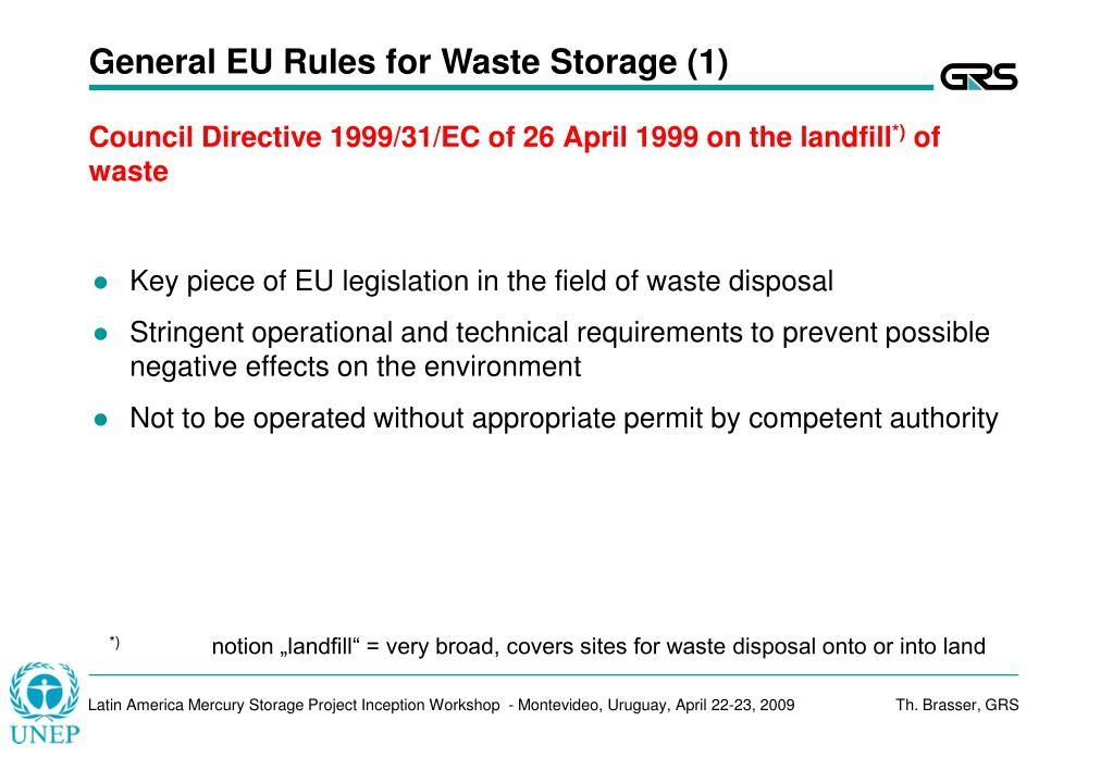 General EU Rules for Waste Storage (1)