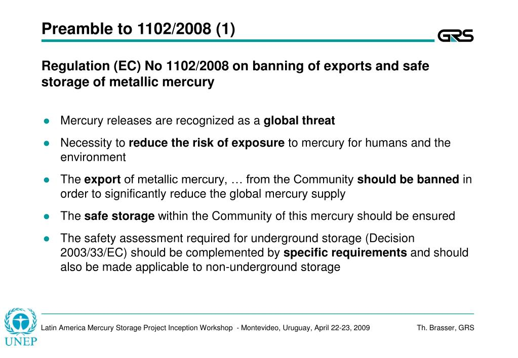 Preamble to 1102/2008 (1)