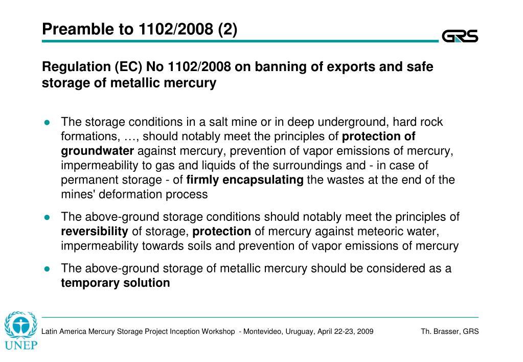 Preamble to 1102/2008 (2)