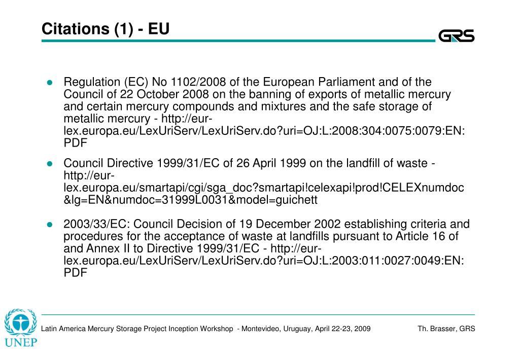 Citations (1) - EU