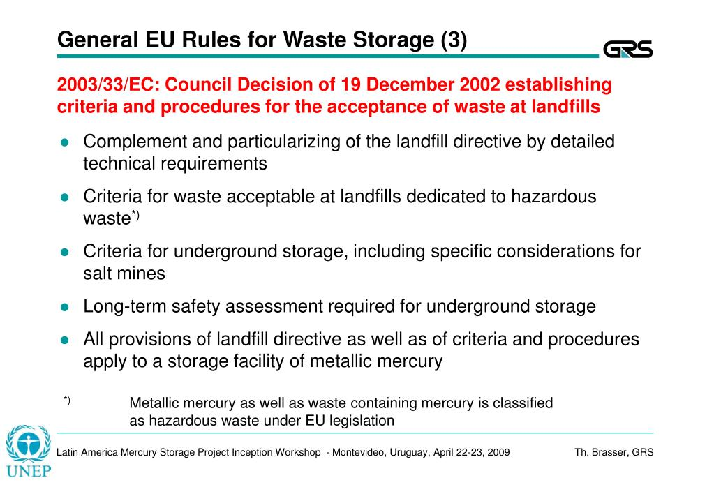 General EU Rules for Waste Storage (3)
