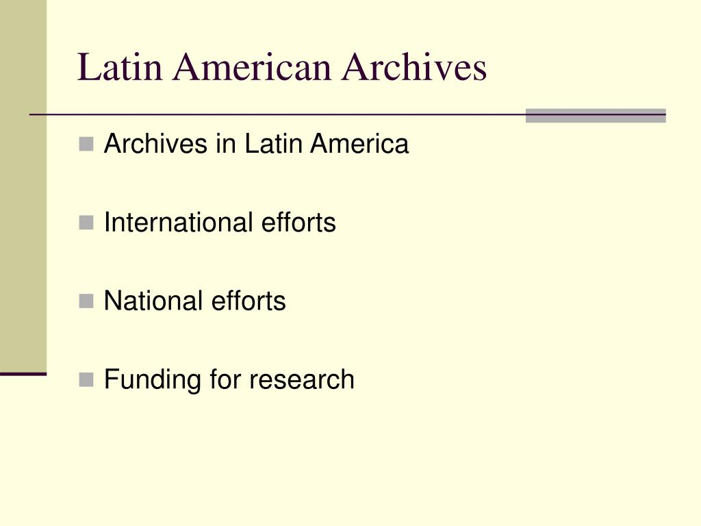 latin american archives l.