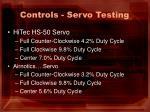 controls servo testing1