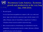 bicentenary latin america economic growth and productivity in the very long run 1500 201012