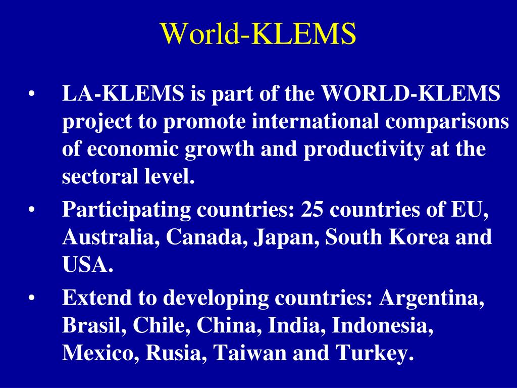 World-KLEMS