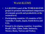world klems