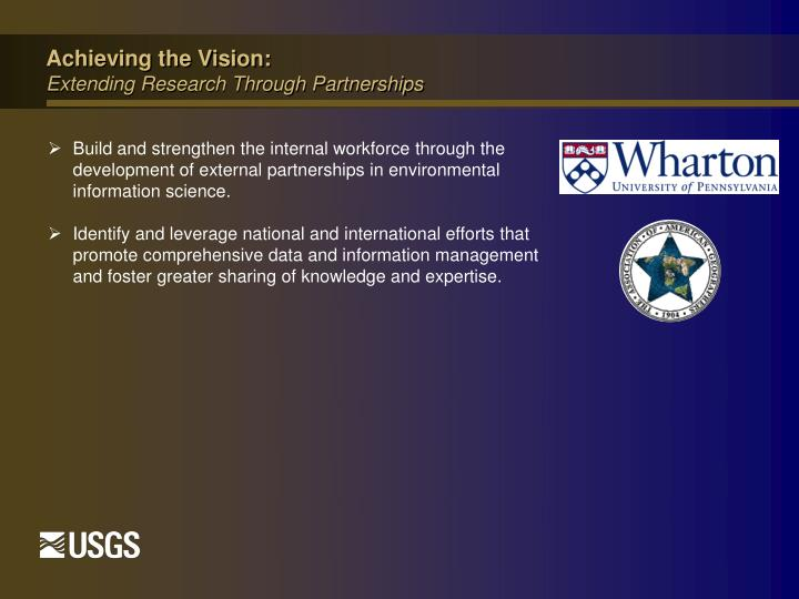 Achieving the Vision: