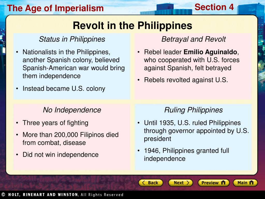 Revolt in the Philippines
