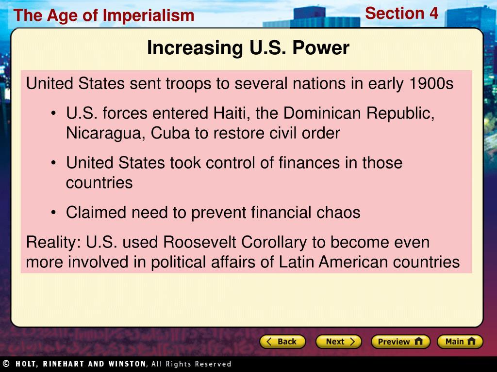Increasing U.S. Power