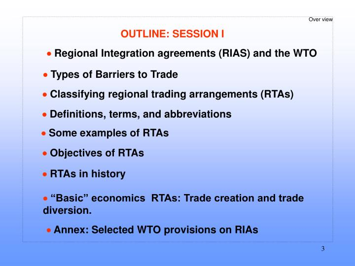 Ppt Session I Regionalism Basics And Overview Powerpoint