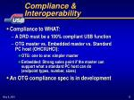 compliance interoperability