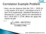 correlation example problem9
