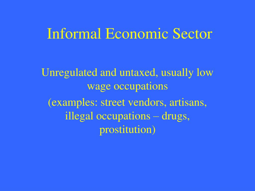 Informal Economic Sector