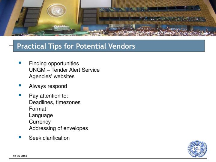 Practical Tips for Potential Vendors