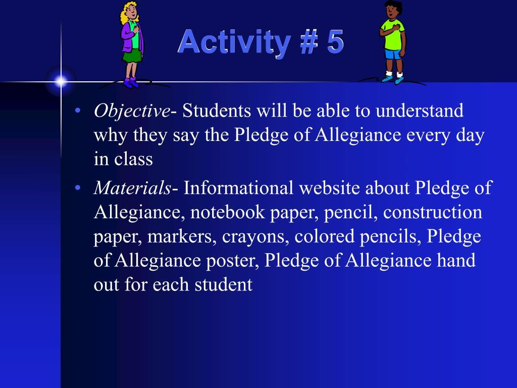 Activity # 5