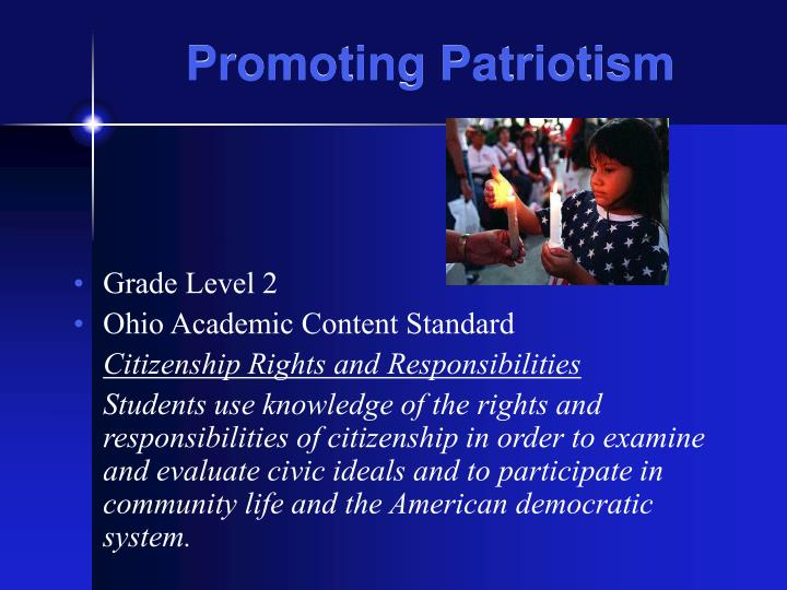 Promoting patriotism2