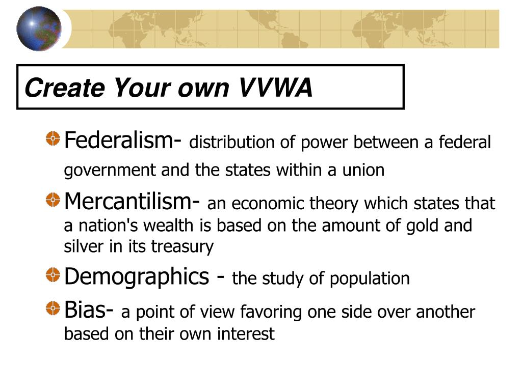 Create Your own VVWA