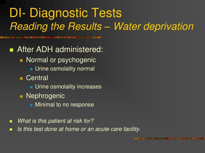 DI- Diagnostic Tests