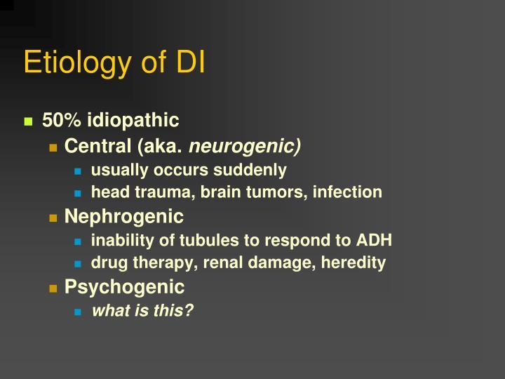 Etiology of DI