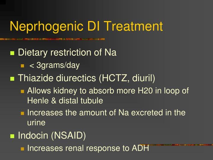 Neprhogenic DI Treatment