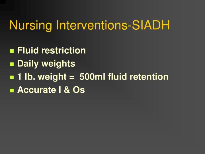 Nursing Interventions-SIADH