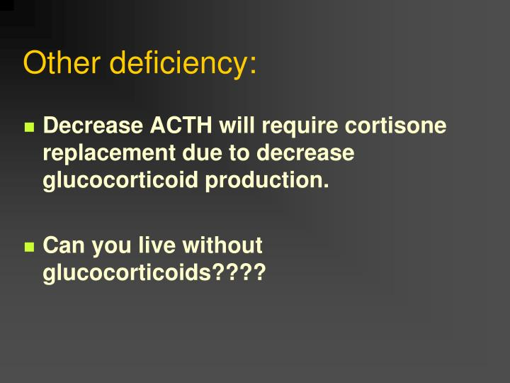 Other deficiency: