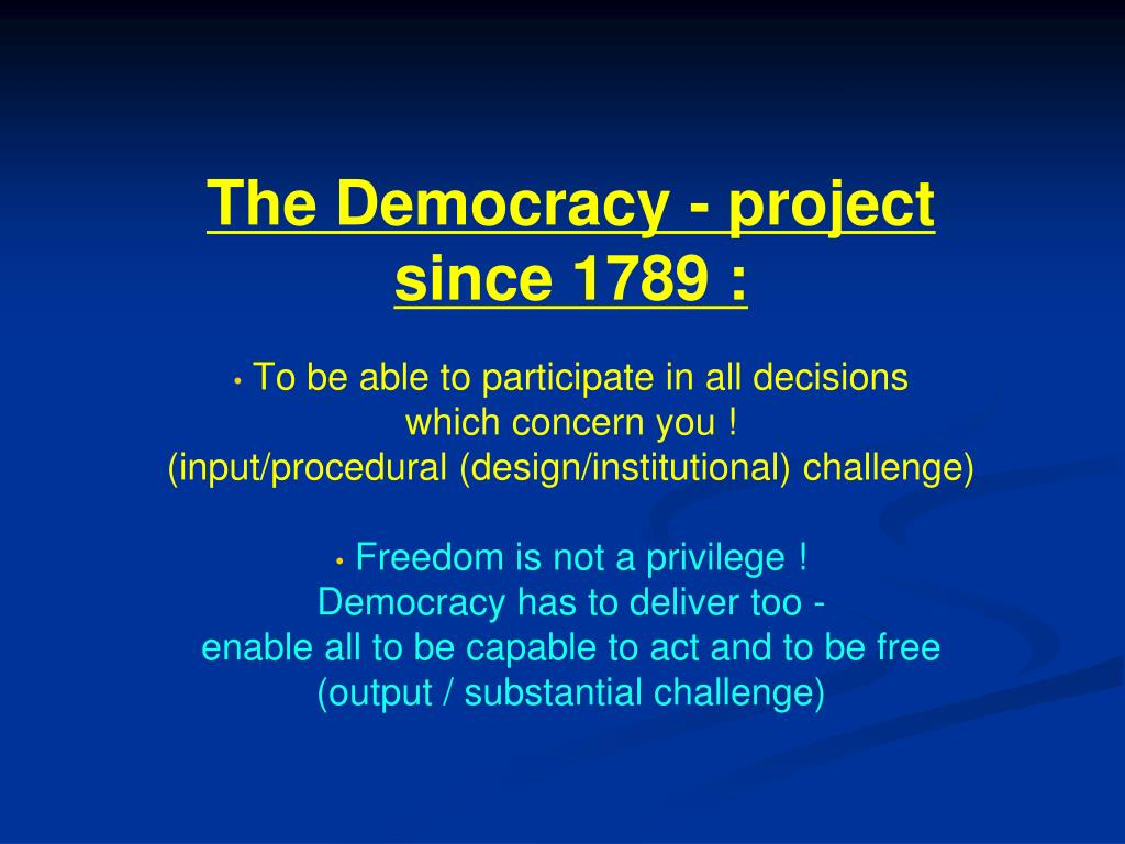 The Democracy - project