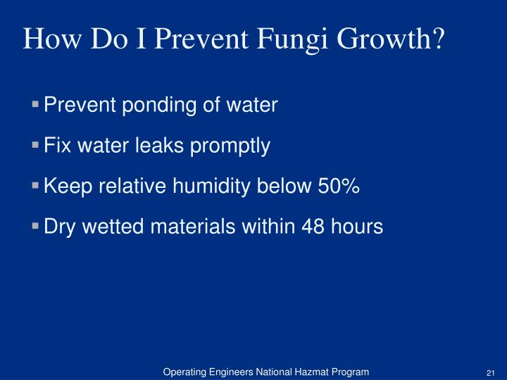 Prevent ponding of water