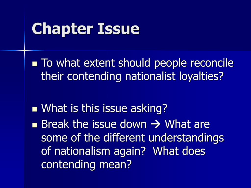 Chapter Issue