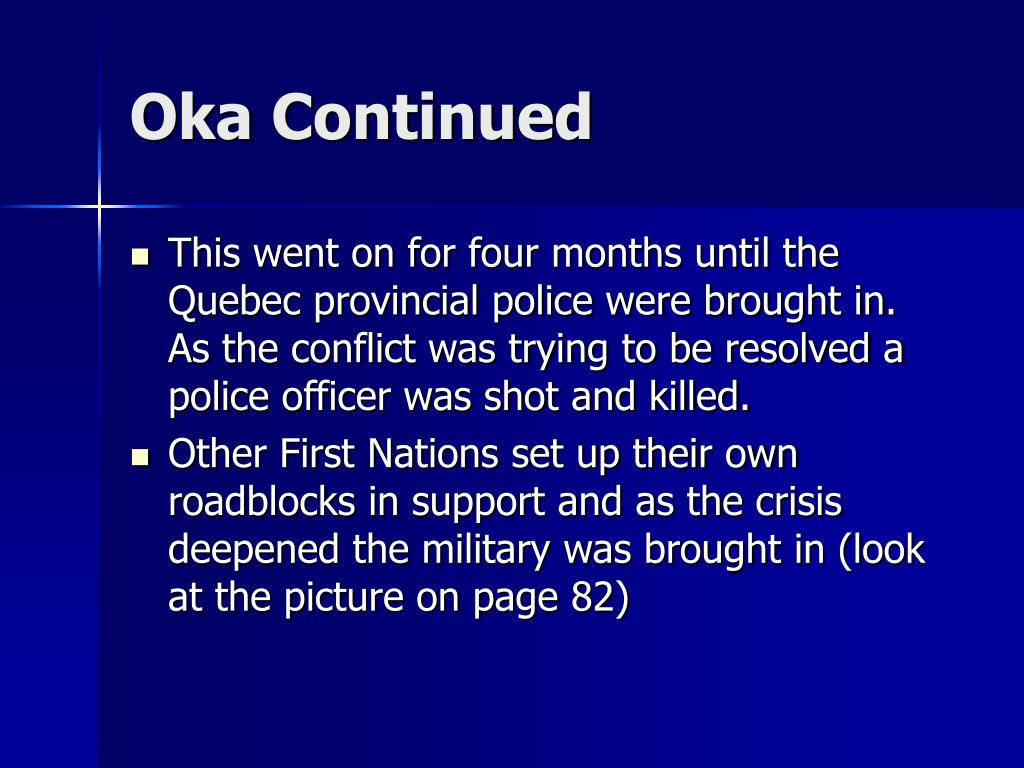Oka Continued