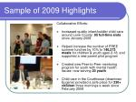 sample of 2009 highlights1