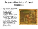 american revolution colonial response