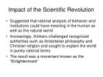 impact of the scientific revolution