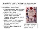 reforms of the national assembly