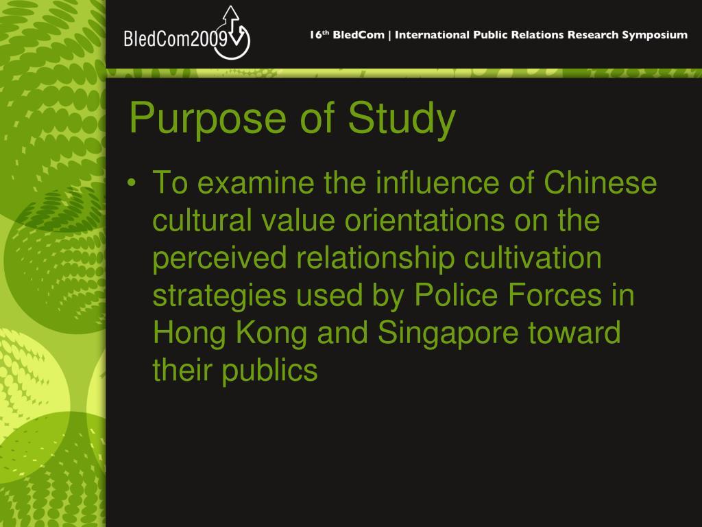 Purpose of Study